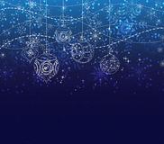 Winter christmas background with balls. Background christmas and happy new year Stock Photos