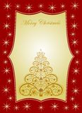 Winter Christmas background with decorative tree Royalty Free Stock Photo