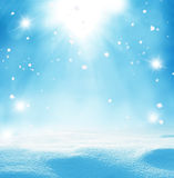 Winter christmas background  with falling snow Stock Image