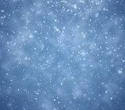 Winter Christmas background. Falling snowflakes Royalty Free Stock Image