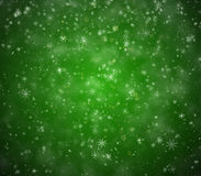 Winter Christmas background. Falling snowflakes and stars Royalty Free Stock Photos