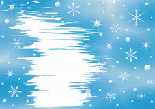 Winter Christmas background. With frame for text, effect textures Royalty Free Stock Photography