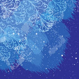 Winter Christmas background with hand drawn elements. Vector illustration on blue background. Winter Christmas background with hand drawn elements.  Design for Royalty Free Stock Photo