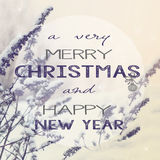 Winter christmas background. Image of snowy winter background with christmas text Royalty Free Stock Images