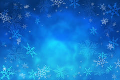 Winter Christmas background. The magic of Christmas night. Snowf. Winter frosty background. Snowflakes and depth of the night winter sky. Christmas. Snowfall Stock Image