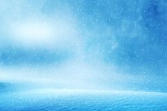 Winter christmas background. With shiny snow and blizzard Stock Image