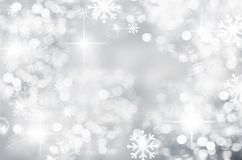 Free Winter Christmas Background, Silver, Bokeh, Blurred, White Snowflakes, Round Spot, Season, New Year, Beautiful Silver Royalty Free Stock Photo - 132811585