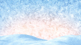 Winter christmas background. Snow drift and frost ornament Royalty Free Stock Photo