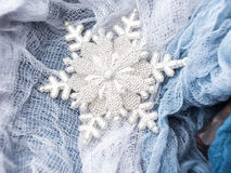 Winter christmas background with snow flake Royalty Free Stock Photo