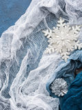 Winter christmas background with snow flake Stock Photo