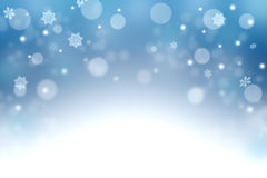 Winter Christmas background. Snowfall. Season. Royalty Free Stock Photography