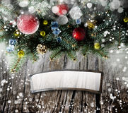 Winter or christmas background Stock Images