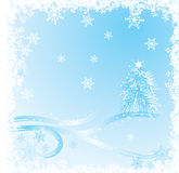 Winter, christmas background, vector Stock Image