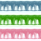 Winter Christmas Banners. Set of winter or Christmas seamless banners, in three different colors. Useful also as greeting card. Eps file available Vector Illustration