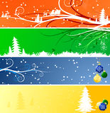 Winter Christmas banners Royalty Free Stock Photos