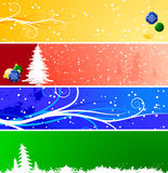 Winter Christmas banners Stock Images