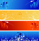 Winter Christmas banners Royalty Free Stock Image