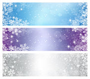 Winter Christmas Banners Stock Photography