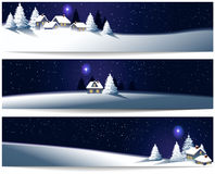 Winter Christmas banners vector illustration