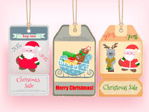 Winter Christmas Big Sale Tags. Illustration Royalty Free Stock Image