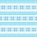 Winter, Christmas blue seamless pixelated pattern with snowflakes Royalty Free Stock Photo