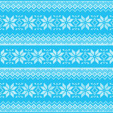 Winter, Christmas blue seamless pixelated pattern with snowflakes Stock Images
