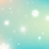 Winter Christmas blurred background with Snowflakes Stock Images