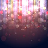 Winter Christmas Blurred Bokeh Background Stock Image