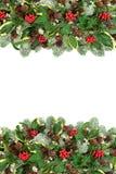 Winter and Christmas Border stock photography
