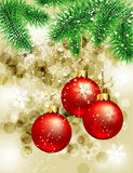Winter christmas card Royalty Free Stock Images