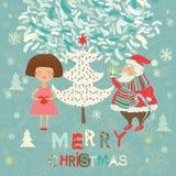 Winter Christmas card Stock Photography