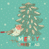 Winter Christmas card Stock Photos
