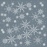 Winter, Christmas, Christmas background of white snowflakes on a pastel blue Royalty Free Stock Image