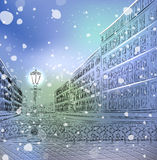 Winter Christmas cityscape Royalty Free Stock Image