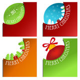 Winter and christmas corner background Stock Images
