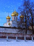 Winter christmas evening. Kostroma. Ipatievsky  monastery Stock Photography