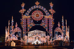 Winter Christmas festival in Moscow. Russia Royalty Free Stock Images