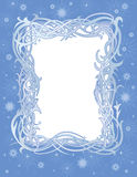 Winter christmas frame Stock Images