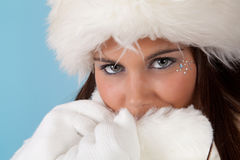 Winter christmas girl Royalty Free Stock Photography