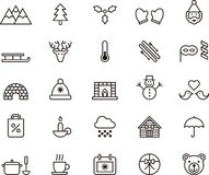 Winter and Christmas icons vector illustration