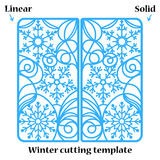 Winter Christmas invitation or greeting card with abstract snowflakes ornament.   Royalty Free Stock Photos