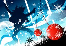 Winter Christmas Joy. With snowflakes Stock Photography