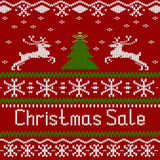 Winter Christmas knitted pattern, scandinavian style Royalty Free Stock Photos