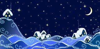 Winter Christmas Landscape_2 Stock Photos