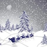 Winter christmas landscape Royalty Free Stock Photos