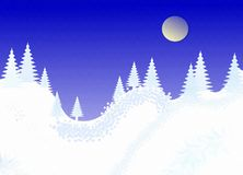 Winter christmas landscape. White place text Royalty Free Stock Photography