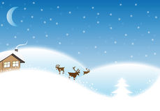 Winter Christmas Landscape Stock Image