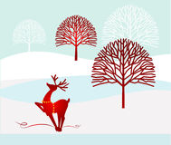 Winter christmas  landscape Stock Photo