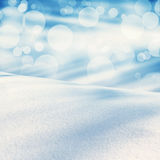 Winter christmas landscape with falling snow, winter background Royalty Free Stock Images