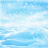 Winter christmas landscape with falling snow, winter background Stock Photography